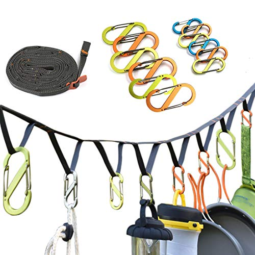 EILIKS Camping Lanyard with Hook, Camping Rope ...