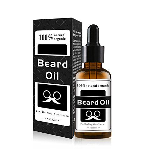 Beard Care Essential Oil,Growther Beard Growth Oil Whiskers Care Gentle nourishment to Improve frizz£¬All Natural Beard Oil (White)