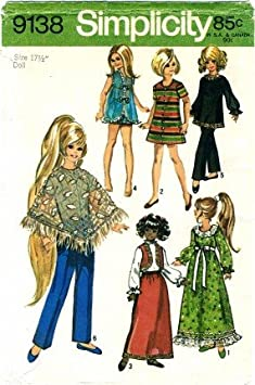 DOLL CLOTHES CRISSY VELVET  DRESS 2 PRINT DRESS SET PURPLE PRINTS