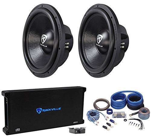 """Rockville W15K6D2 V2 15"""" 8000w Car Subwoofers Subs+Mono Amp"""