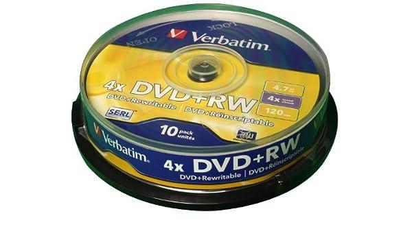 DVD+RW 4.7GB 4X: Amazon.es: Oficina y papelería
