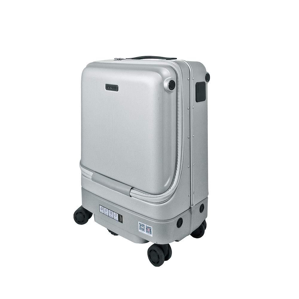 旅行や出張、空港や駅で!スーツケースが自動でついてくる!Airwheel社製【SR5ロボットスーツケース/シルバー】 B07QRFR83F