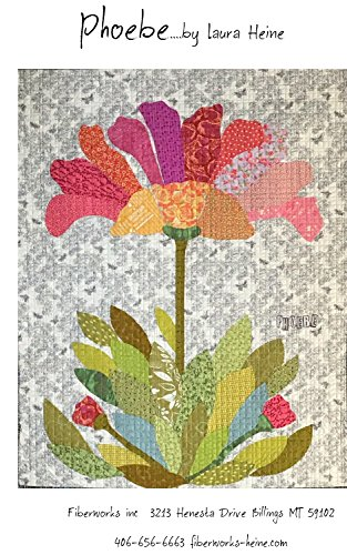 - Phoebe Flower Collage Applique Quilt Pattern by Laura Heine from Fiberworks Inc. 41