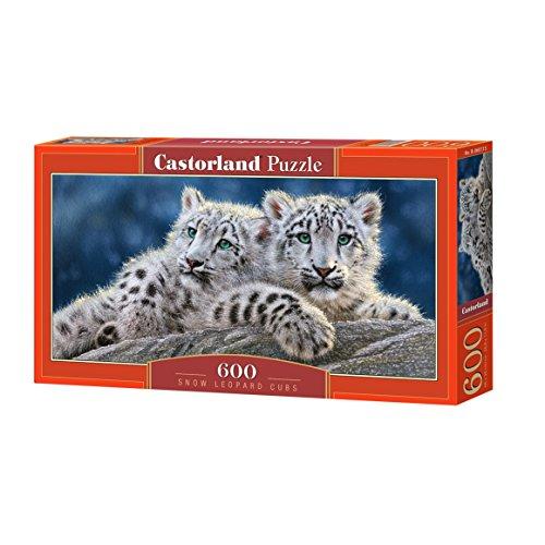 Snow Leopard Cub - Castorland Puzzle Snow Leopard Cubs Jigsaw (600 Piece)