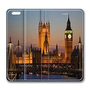 iPhone 6 plus case leather,Stylish London Theme Leather Phone Case Cover for Apple iPhone 6 Plus 5.5inch