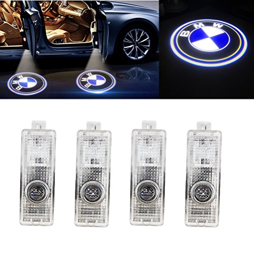 Grolish Cree Led 4 piece Car Door LED Lighting Logo Projector Door Step Light for BMW(4-Pack)