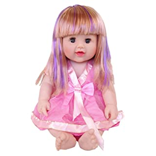 Per African Doll Dubai Princess Tutu Doll Princess Doll Simulation Baby Toddler Kids Toy Safe Silicone Doll Holiday And Birthday Gift Educational Toys 18inch