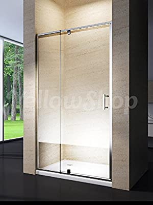 Yellowshop - Cabina de ducha con puerta corredera basculante y reversible de vidrio templado de 6 mm transparente o punteado. Medidas: 68, 78, 80, 88, 90 y 100 cm, transparente: Amazon.es: Bricolaje y herramientas
