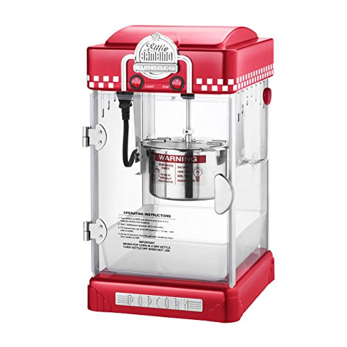 Great Northern Popcorn Company 6073 GNP Little Bambino Red GNP Little Bambino 2-1/2 Ounce Retro Style Popcorn Popper Machine by Great Northern Popcorn Company (Image #3)