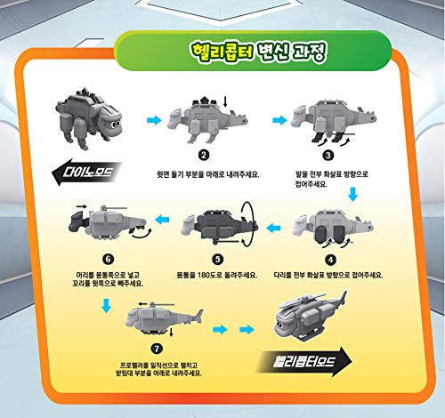 4.7 x 5.1 x 3.3 Go Go Dino 2018 Season Dinosaur Expedition Transforming Robot Stegosaurus Storm Green
