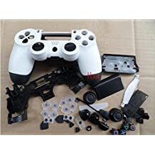 Replacement Repair Matt Housing Shell+Buttons+Pad Case Part for PS4 PS 4 Controller DualShock4 4 Color White