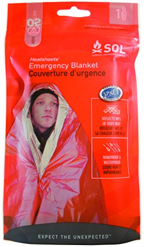(S.O.L. Survive Outdoors Longer 90 Percent Heat Reflective Emergency Blanket)