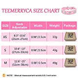 teemerryca Bling Diamond Pink Leather Dog Cat
