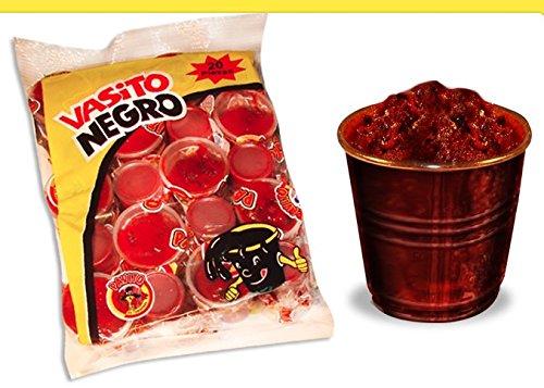 2 x Pavito Tamarind Black Cup - Vasito Negro de Tamarindo 20 pcs Net Weight 750gr Made in Mexico
