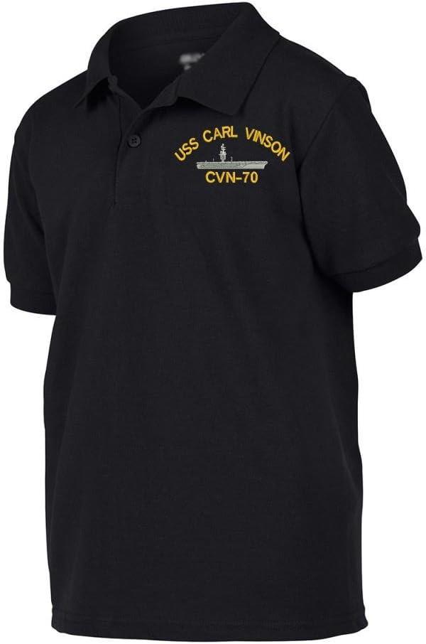 Military USS Carl Vinson CVN-70 Ship Polo Shirt