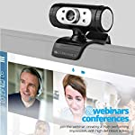 Zebronics Zeb-Ultimate Pro (Full HD) 1080p/30fps Webcam with 5P Lens, Built-in Mic, Auto White Balance, Night Vision…