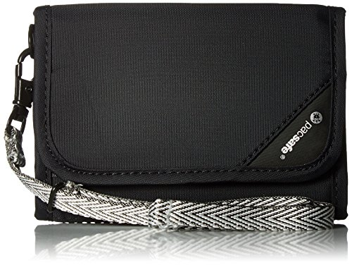 Pacsafe RFIDsafe V125 Anti-Theft RFID Blocking Tri-Fold Wallet, (Best Pacsafe Amazon Rfid Wallets)
