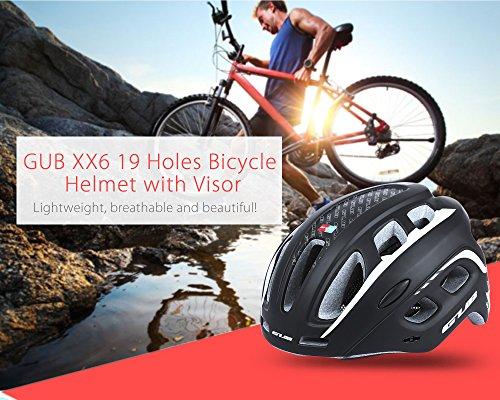 outlife Ultraleggero Unisex 55-61cm Casco Bicicletta Adulto 19 Fori con Visiera (Rosso) 4 spesavip