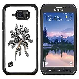 LECELL--Funda protectora / Cubierta / Piel For Samsung Galaxy S6Active Active G890A -- Acero tribal --