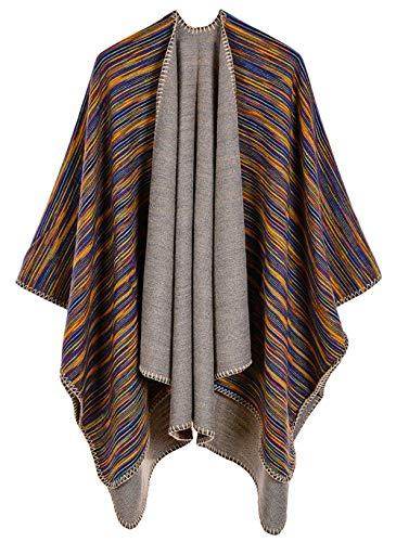 R Vintage Femme Couverture Poncho Cape Foulard Chaude O1YTAP