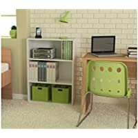 Ameriwood 3-shelf Bookcase, Multiple Finishes. Ideal for Dorm Room, Home Office, Living Room or Any Room. (White)
