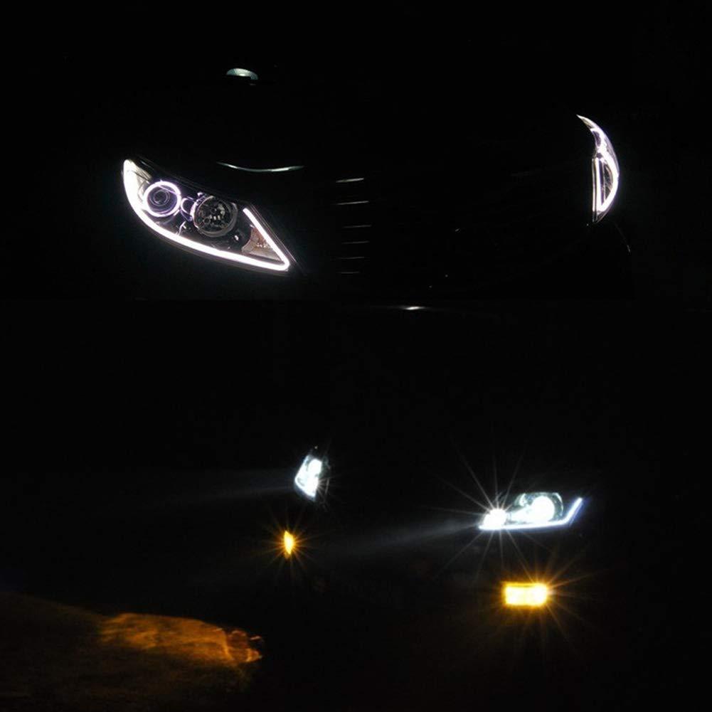 Auto DRL lampada LED luce di striscia flessibile morbido tubo 12/V DC 2/pezzi