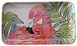 Coastal Home Flamingle Flamingo Tidbit Tray One Size Pink/green/white