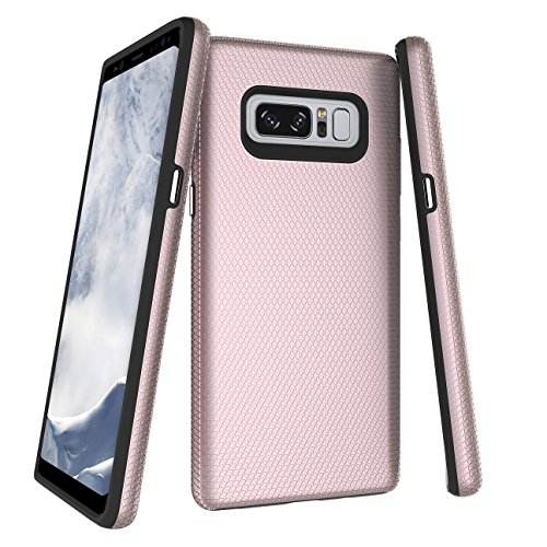 Note 8 Case, SOGOLA 2 in 1 Dual Layer Heavy Duty Textured Shock Absorbent PC TPU Full-Body Drop Resistant Protection Design Cover for Samsung Galaxy Note8 6.3 inch (2017 Release) (Rose Gold) For Sale