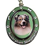 """Australian Shepherd Key Chain """"Spinning Pet Key Chains""""Double Sided Spinning Center With Australian Shepherds Face Made Of Heavy Quality Metal Unique Stylish Australian Shepherd Gifts 3"""