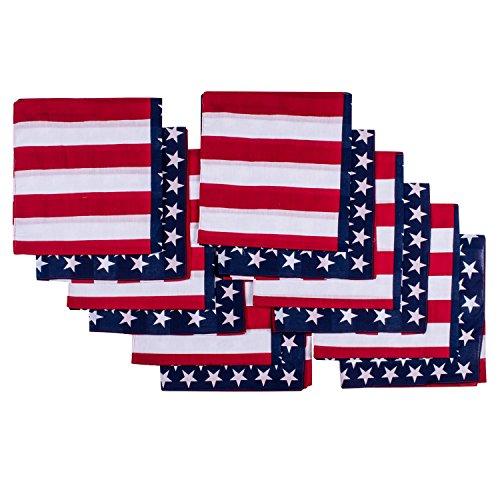 Elephant Brand Bandanas 100% cotton since 1898 - 12 Pack (American Flag) (Bandana Usa Flag)