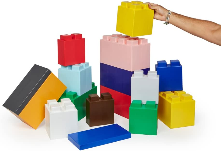 Green EverBlock Modular Building Blocks 18 Blocks Full Block Bulk Pack