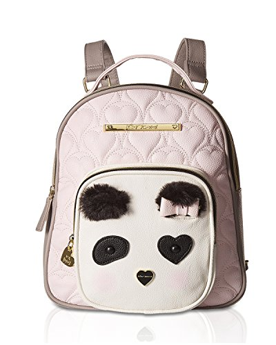 Betsey Johnson Womens Convertible Backpack Blush Multi One Size