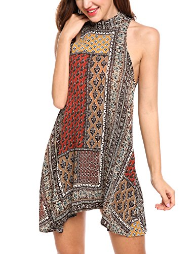Brown Halter Dress - 4