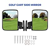 kemimoto Ez-Go Golf Cart Side Mirrors Rear View Mirror for Club Car Yamaha Star Zone