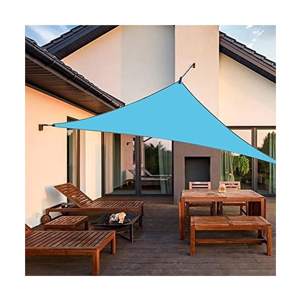 51autKWhK S RANJIMA Sonnensegel, Sonnensegel Dreieckig Sonnenschutz 3x3x3m, Schattensegel Wasserdicht Atmungsaktiv mit Tragtasche+3…