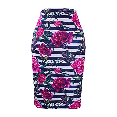 Dames Femmes Floral Jupes Bodycon Jupes Faldas Filles M 12 Mode Slim XXL Print Crayon Bas Femme Saias 1pzw5WTdqT