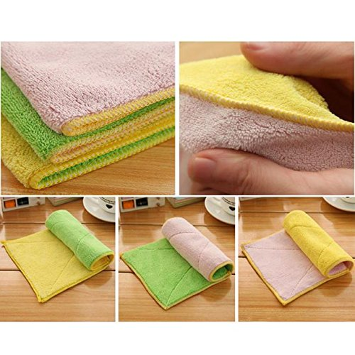 Mr.Macy Mixed Color Microfiber Car Cleaning Towel Kitchen Washing Polishing Cloth