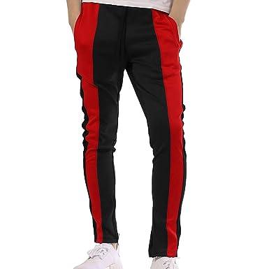 ea17781dc3d0d9 Hibote Men's Casual Sport Jogger Pants Sweatpants - Fashion Mens Gym Slim  Fit Trousers Tracksuit Bottoms