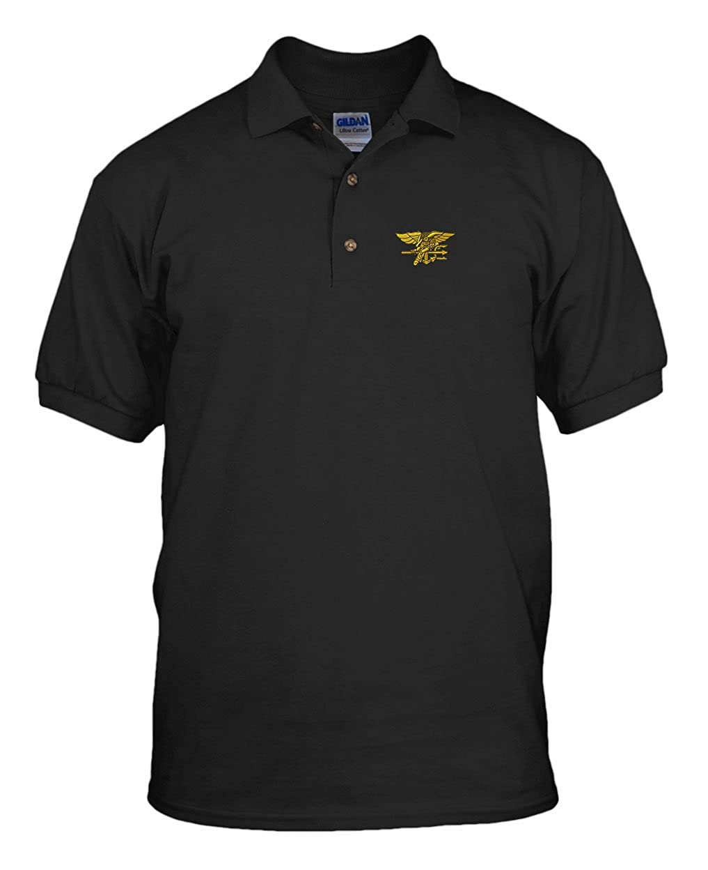 6a4af4cd U.S. Navy Seal Military Embroidery Embroidered Unisex Adult Golf Polo Shirt  Navy X-Large