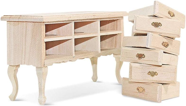 Set da 4 pezzi Set da giardino Miniature Mobili da casa Bambola Scrivania