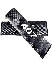 Voor Peugeot 407 Lederen Auto-interieur Gordel Covers Verwijderbare Autogordel Comfort Pads Gordelband Covers Bescherming Accessoires 2 stuks