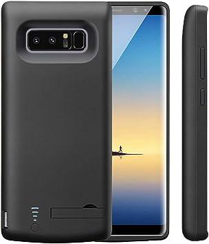 Idealforce Samsung Galaxy Note 8 Caja De BateríA, 6500mah Cubierta De BateríA Externa Cargador PortáTil Carcasa De Carga Protectora Para Samsung Galaxy Note 8 (Negro): Amazon.es: Electrónica