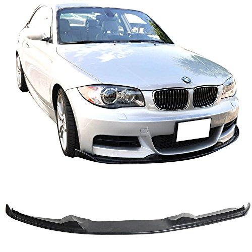 Front Bumper Lip Fits 2007-2011 BMW E82 20135 s   H-Style PU Black Front Lip Spoiler Splitter by IKON MOTORSPORTS   2008 2009 2010