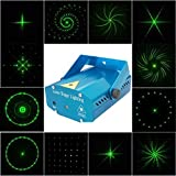 Cdgyot 12 in 1 Christmas Laser Special Effects Lighting Lub Dj Disco Bar Stage Light, Voice-activated Version