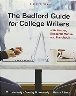 Buy the bedford guide for college writers 9th ed 4-in-1 +.