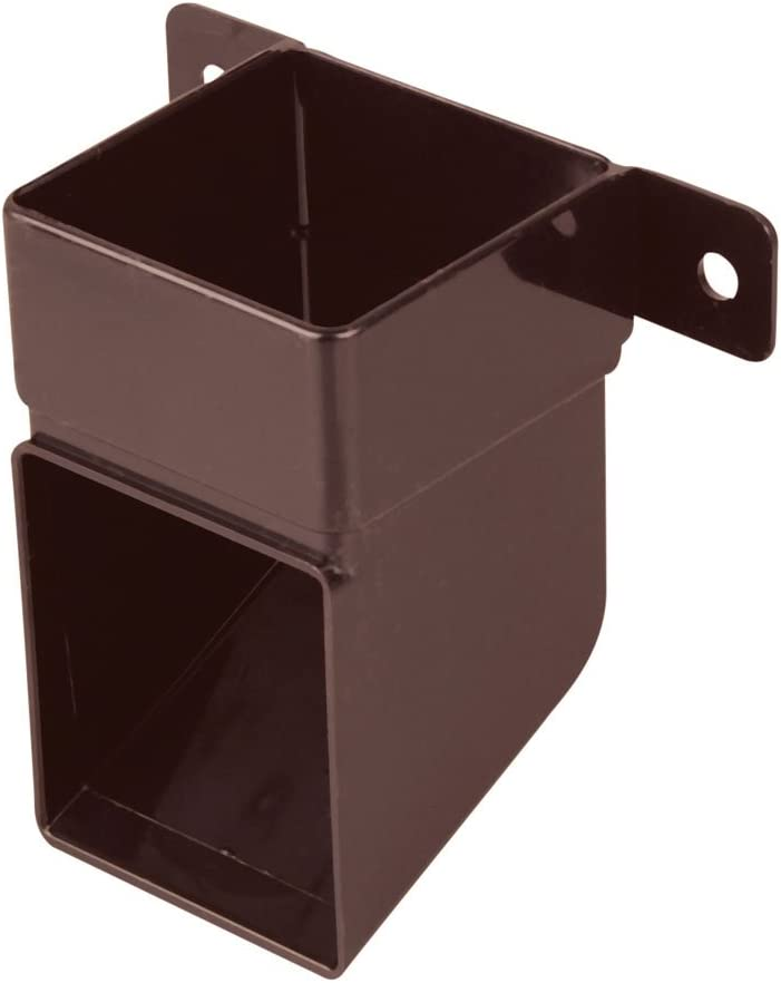 Wavin OSMA 4T832 Brown Pipe Shoe with mounting Bracket for 61mm Square downpipes