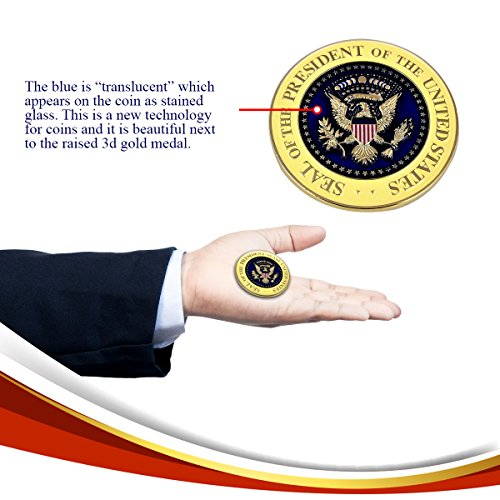 Large Product Image of Donald Trump Inauguration Challenge Coin -LIMITED EDITION- Commemorate the 45th President of the United States - A Presidential Collector Item