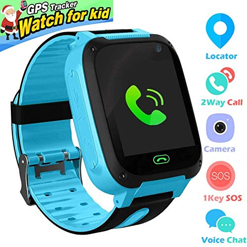 Kids Smart Watch Phone smartwatches for Children with GPS Tracker sim Card Anti-Lost sos Call Boys and Girls Birthday Compatible Android iOS Touch Screen Voice Chat Remote Camera