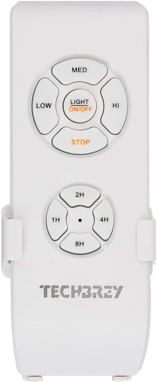 TECHBREY LED Deckenventilator Minimal PRO Ultraleise mit wählbarer CCT 70W Weiß Smart Wifi Weiß