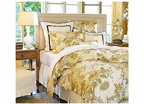 Hughapy Osmanthus Cotton Bedding Sets Western Duvet Covers Pastoral Bed Linens Printed Bed In A Bag 4 Pieces Wedding Bed Sets ,Full